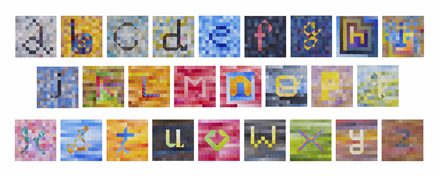 alphabet paintings